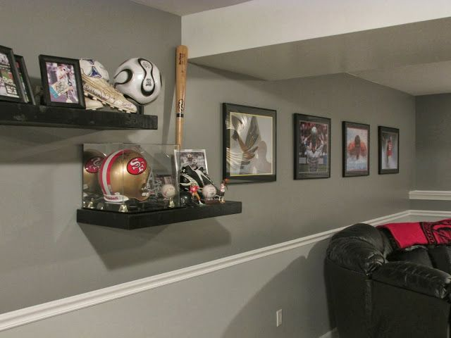 Cali Land Chic: Sports Room Memorabilia Wall