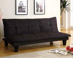 Black, Wood Frame, Tufted Detail   Margo Futon