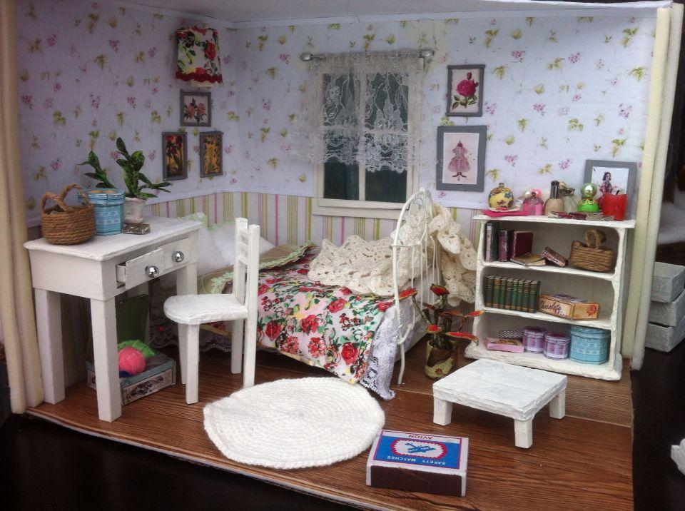 Dollhouse .Bedroom miniature