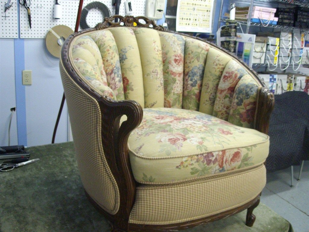 Antique barrel chair - Ma And Pa S Upholstery Barrel Chairupholstery