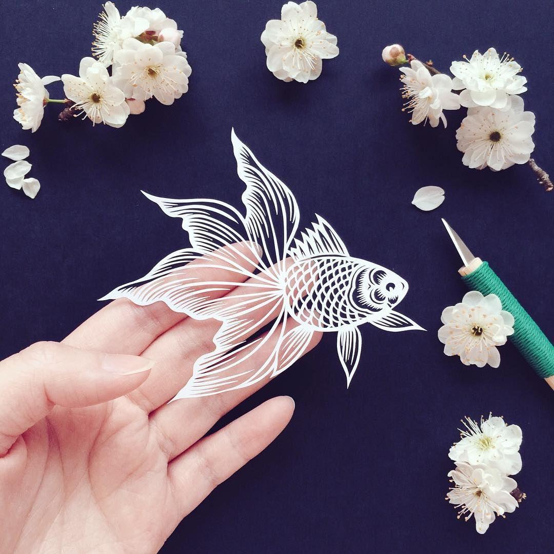 Goldfish Papercut Papercuts Paperart Papercutting