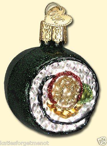 Sushi Japanese Food Old World Christmas Ornament 32110 eBay Old