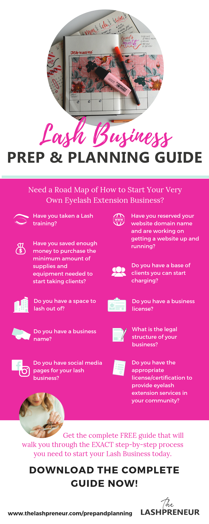 Need A Road Map Of How To Start Your Very Own Eyelash Extension Business Thelashpreneur Free Prep Planning Guide Here Get Step By