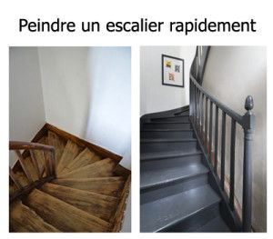 comment peindre rapidement un escalier en bois home pinterest. Black Bedroom Furniture Sets. Home Design Ideas