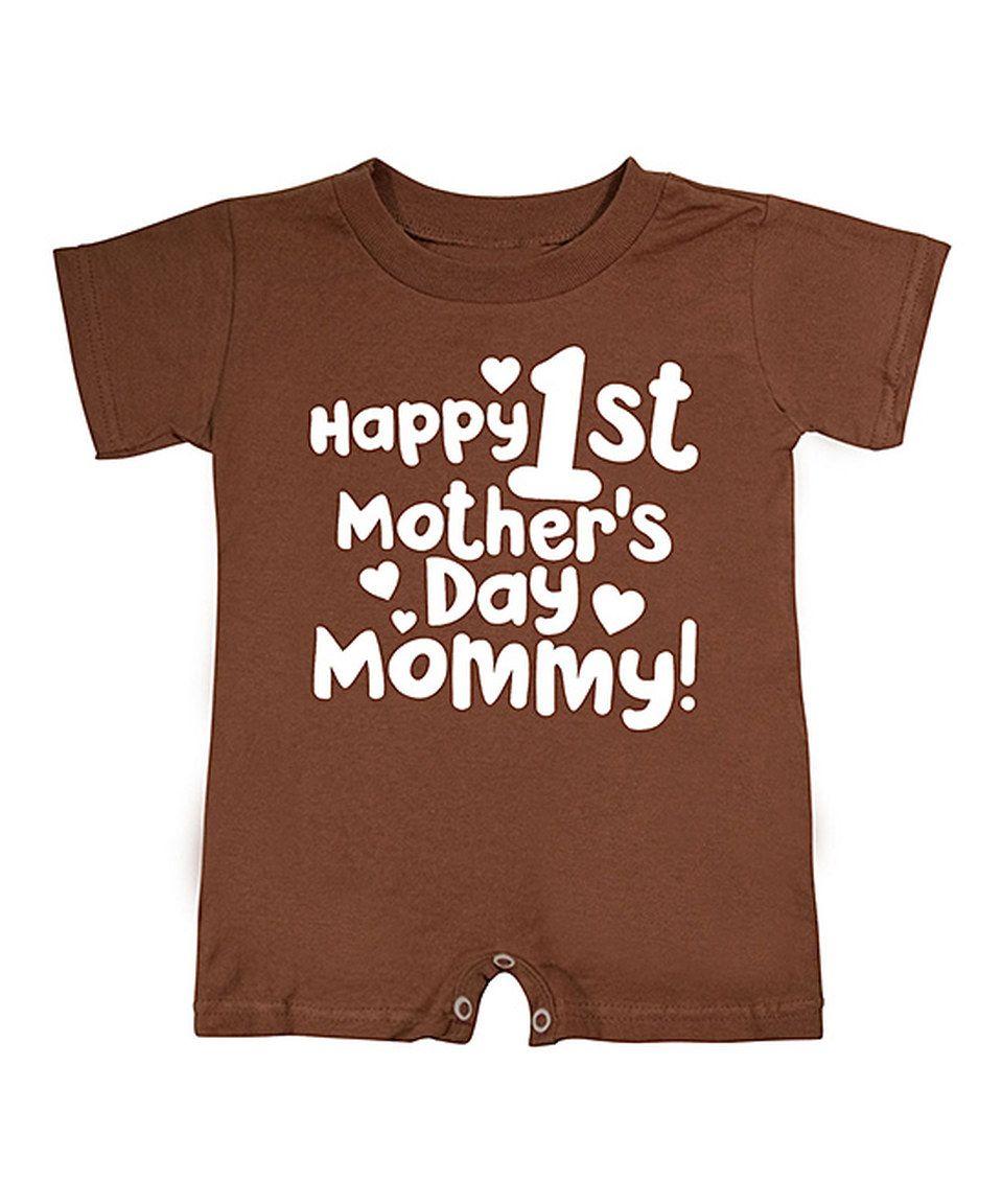 Love this Dark Brown 'Happy 1st Mother's Day' Romper - Infant by KidTeeZ on #zulily! #zulilyfinds