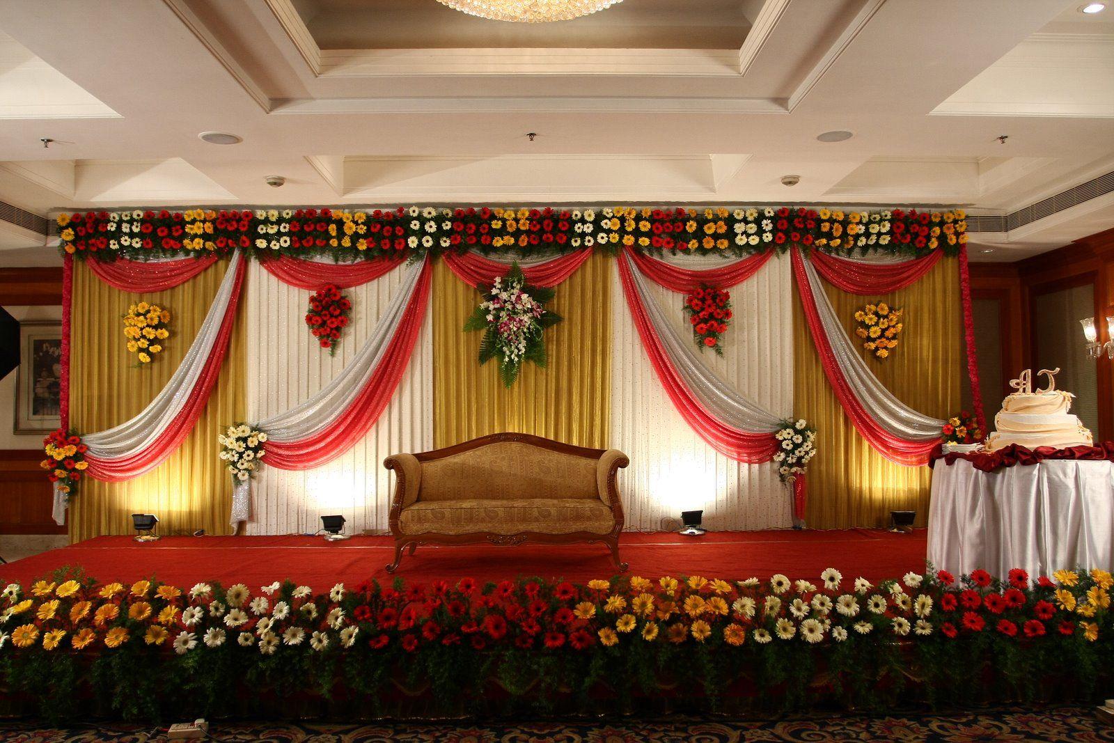 Decoration reception stage decoration wedding for Stage decoration