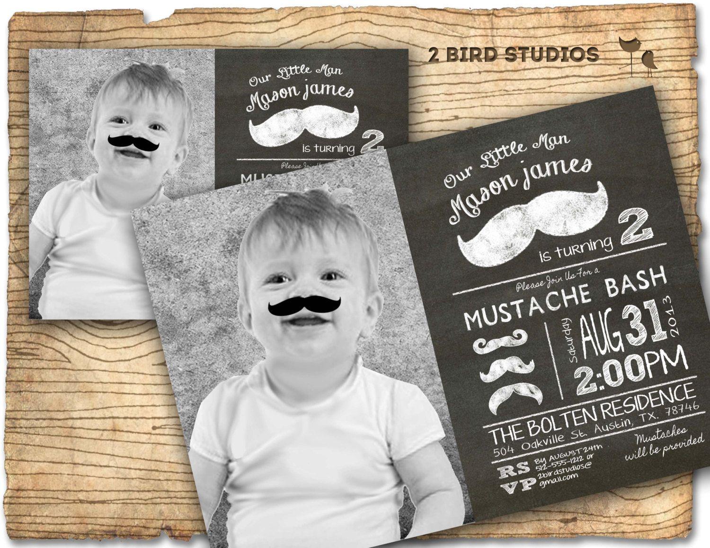 Little man mustache birthday party invitation - mustache invitation ...