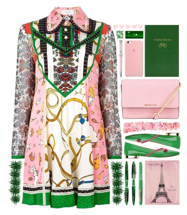 """"""" The Answer"""" by arierrefatir ❤ liked on Polyvore featuring Coach, Signorine Italiane, MICHAEL Michael Kors, Stipula, Vintage Print Gallery, Sloane Stationery, Paper Mate and Montegrappa"""