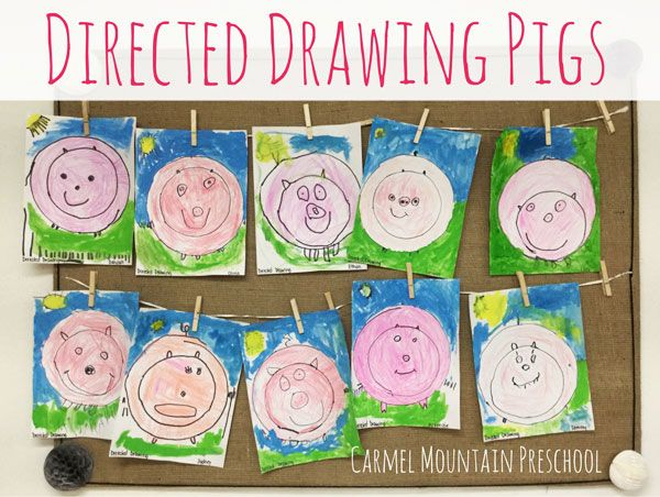 Directed Drawing Pigs | Preschool | Directed drawing