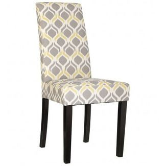 Elegante silla tapizada para comedor o sal n mobilario for Sillas comedor estampadas