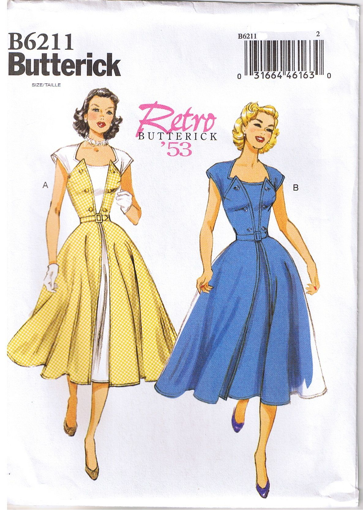 1950s Vintage Wrap Dress Sewing Pattern - Look at this vast ...