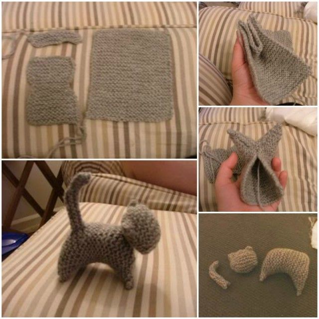 Easy Knitted Cat Free Pattern