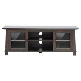 Kist Console Table Glass Cabinet Doors Brown Wood Furniture Deals