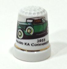 1933 Lincoln KA Convertible car automobile porcelain thimble