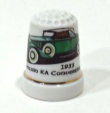 1933 Lincoln KA Convertible car automobile porcelain thimble