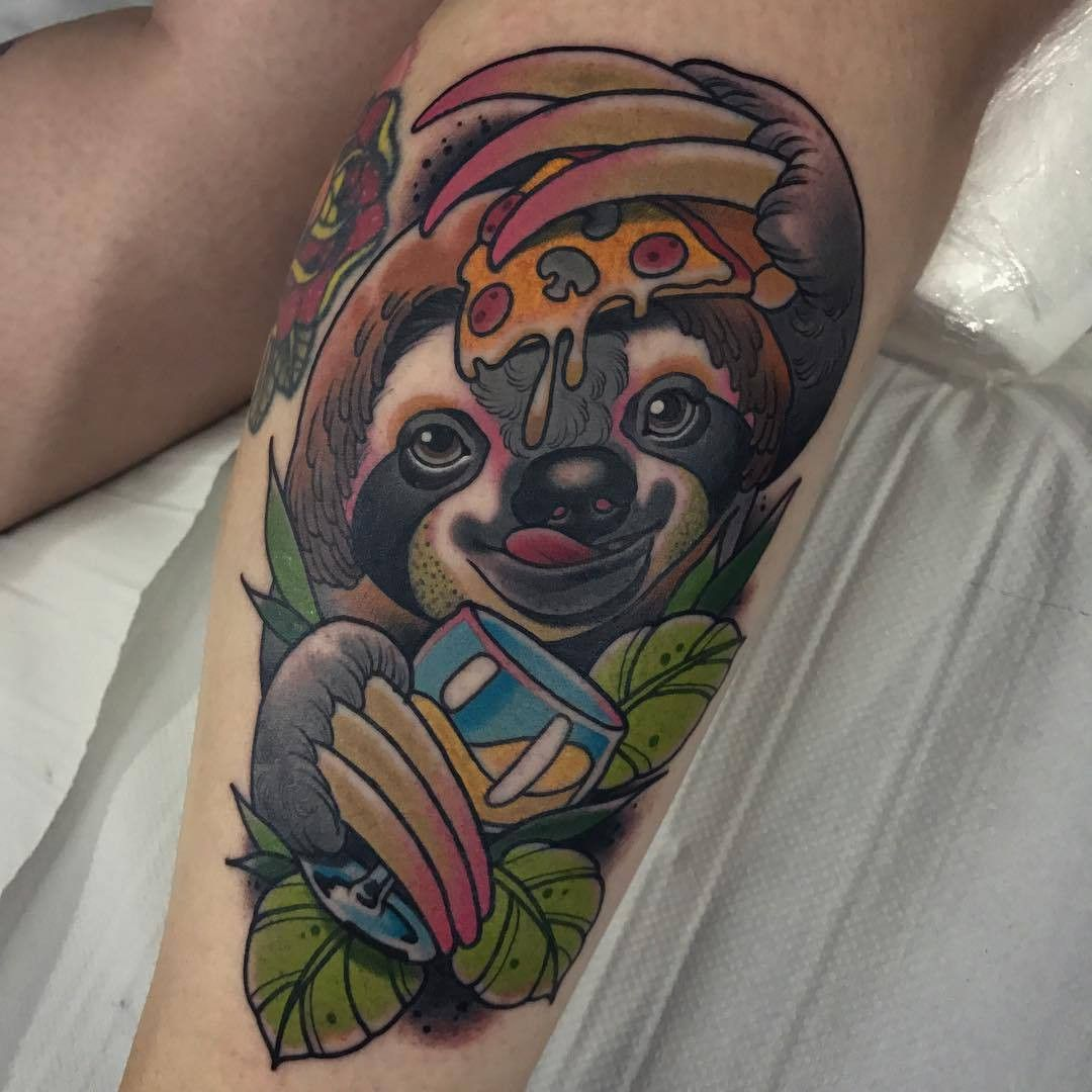 Pin by Books With Benjamin on Tattoos & Body Art Sloth
