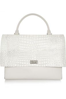 Givenchy Shark medium shoulder bag in croc-embossed leather and suede | NET-A-PORTER