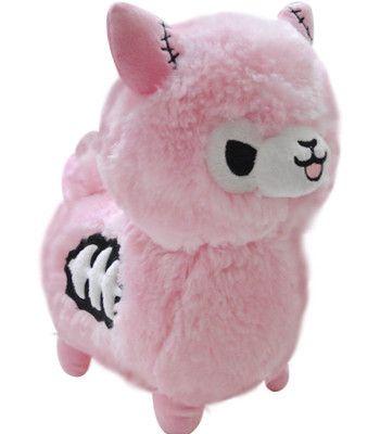Tasty Peach Studios — Zombie Alpaca Plush - Pink BACKORDER