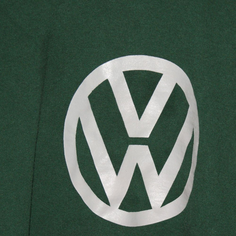 Volkswagen VW T Shirt Green with Front Logo Mens XL