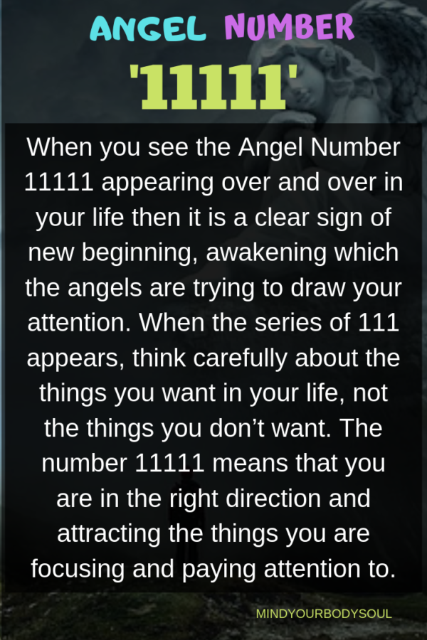 Angel Number 11111 It S Meaning And Symbolism Angel Number Meanings Numerology Angel Numbers