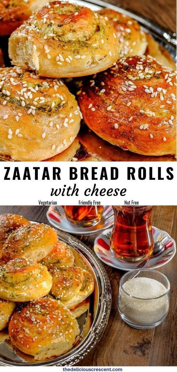 Zaatar and Parmesan Cheese Bread Rolls #middleeast