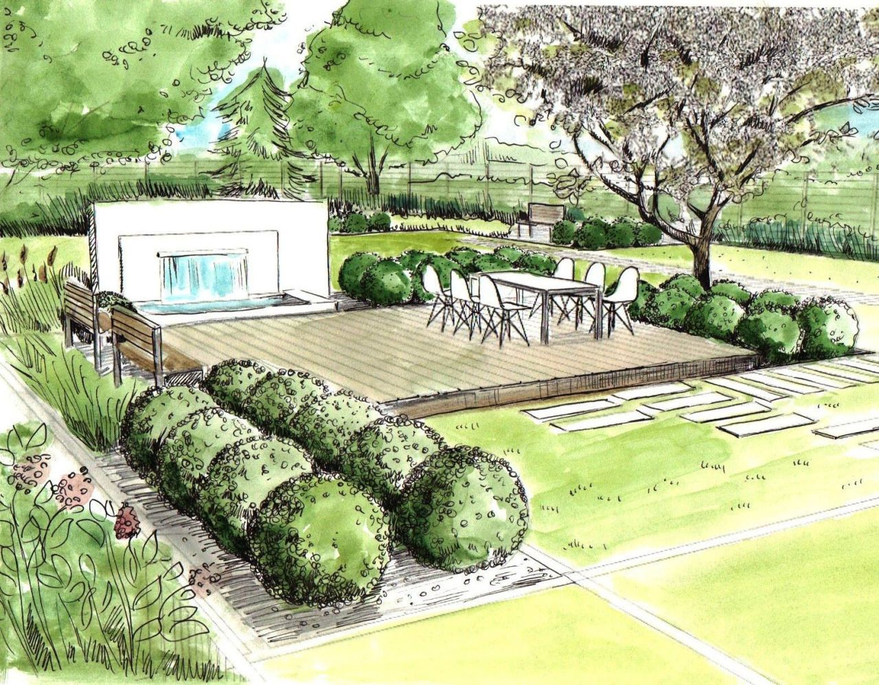 Landscape Architecture  Perspectives and Renderings