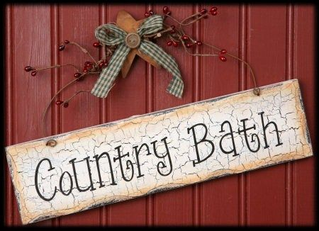$9.75 @ Old Country Crows   Country Bath Decorative Hanging   Bathroom