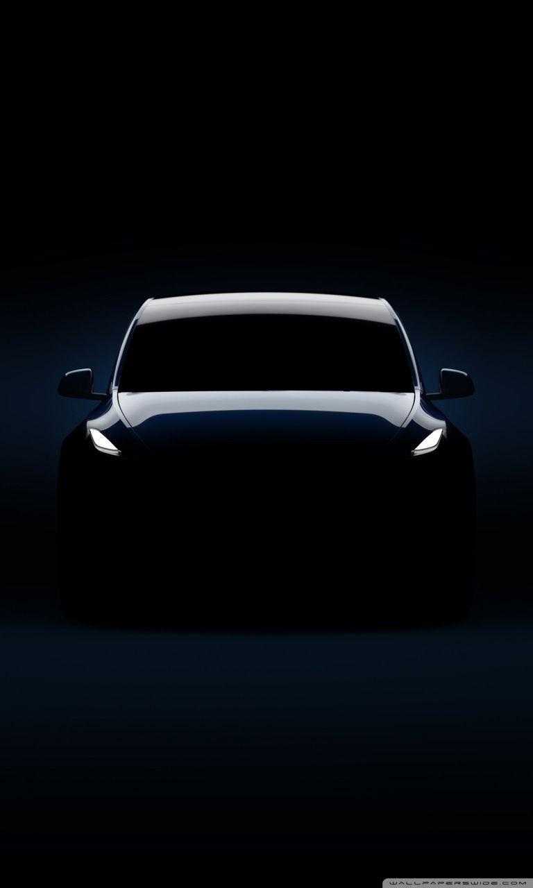 Tesla Model Y Electric Car Silhouette Ultra Hd Wallpaper For 4k Uhd Widescreen Desktop Table Car Silhouette Tesla Model Tesla