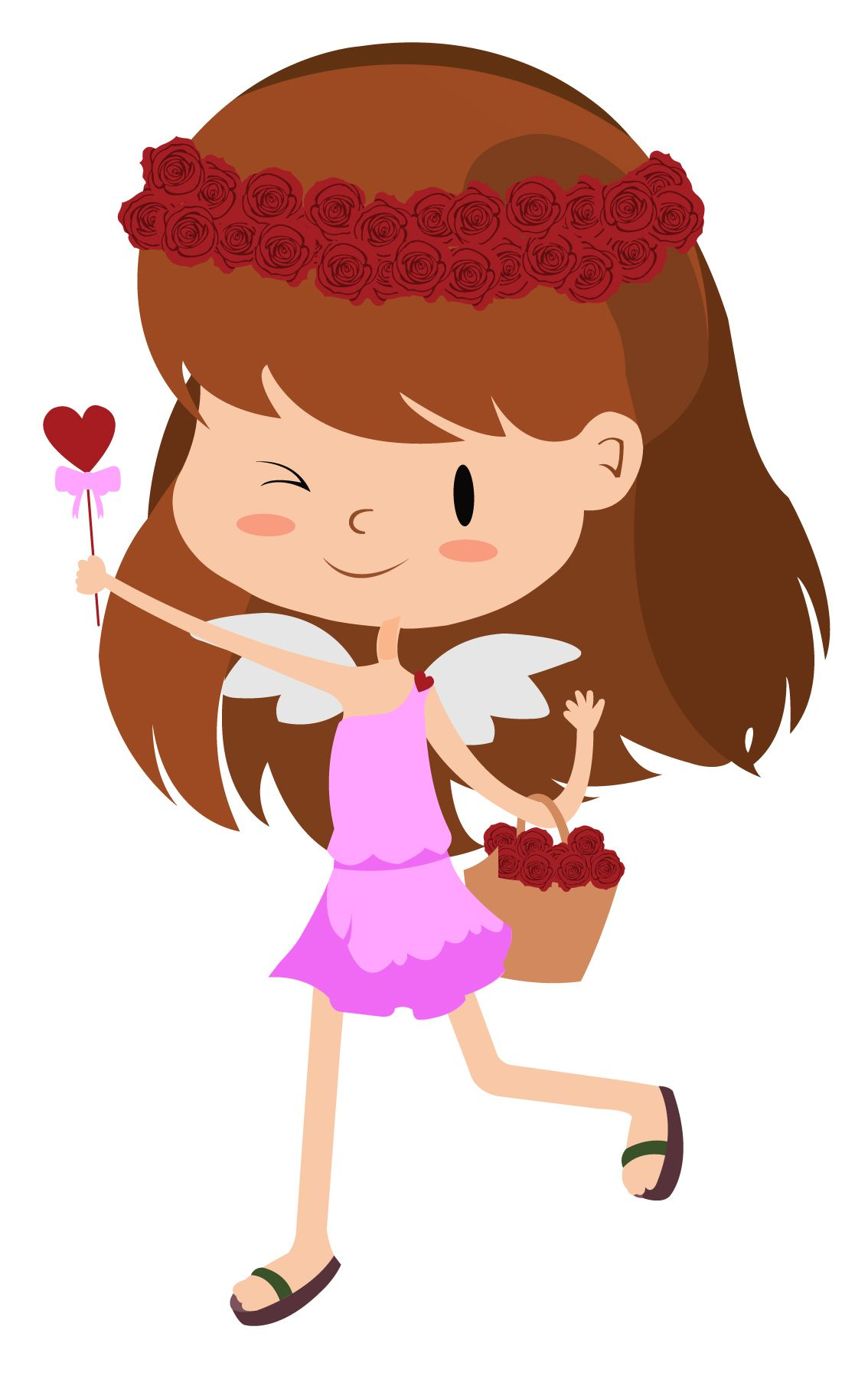Valentine Girl Vector
