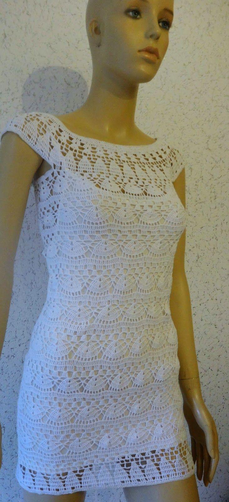 "Crochê & Prosa: Mini Vestido ""Angel"""