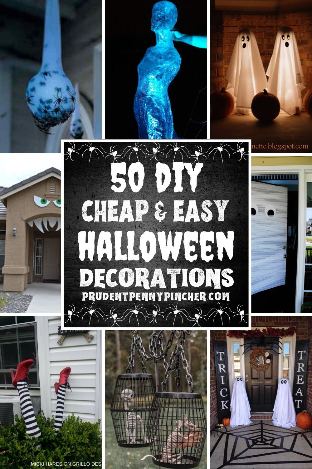 50 Cheap and Easy Outdoor Halloween Decor DIY Ideas in 2020