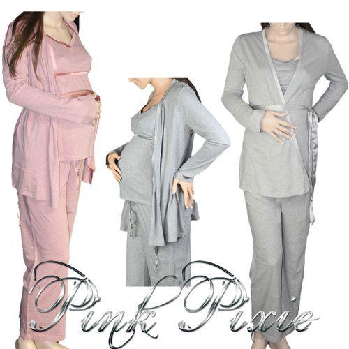 Maternity Nursing Hospital Easy Feed Pyjama Set Pyjamas With ...