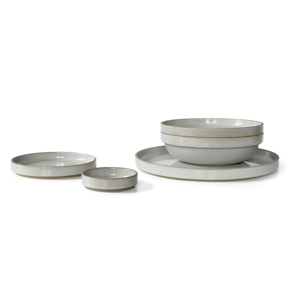 This stack-able ceramic dinnerware is made from a unique mixture of porcelain and clay  sc 1 st  Pinterest & Gloss Grey Japanese Porcelain Dinnerware | Ceramic techniques ...