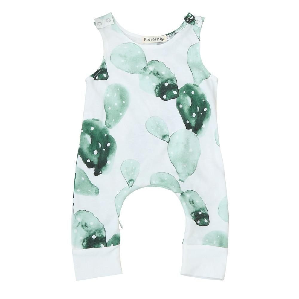 Unisex Baby Boy Girl Dinoaur Print Romper Jumpsuit Sleevless Summer Clothes