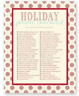 Capturing+Real+Life:+Printable+Photo+Checklists Holiday photo checklist