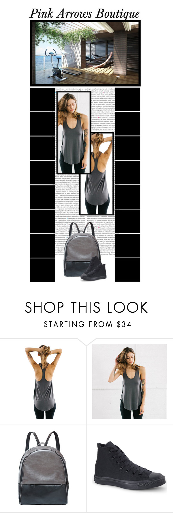 """""""Pink Arrows Boutique (13)"""" by irresistible-livingdeadgirl ❤ liked on Polyvore featuring Oris, Converse, converse, backpack, exercise, gym and pinkarrowsbtq"""