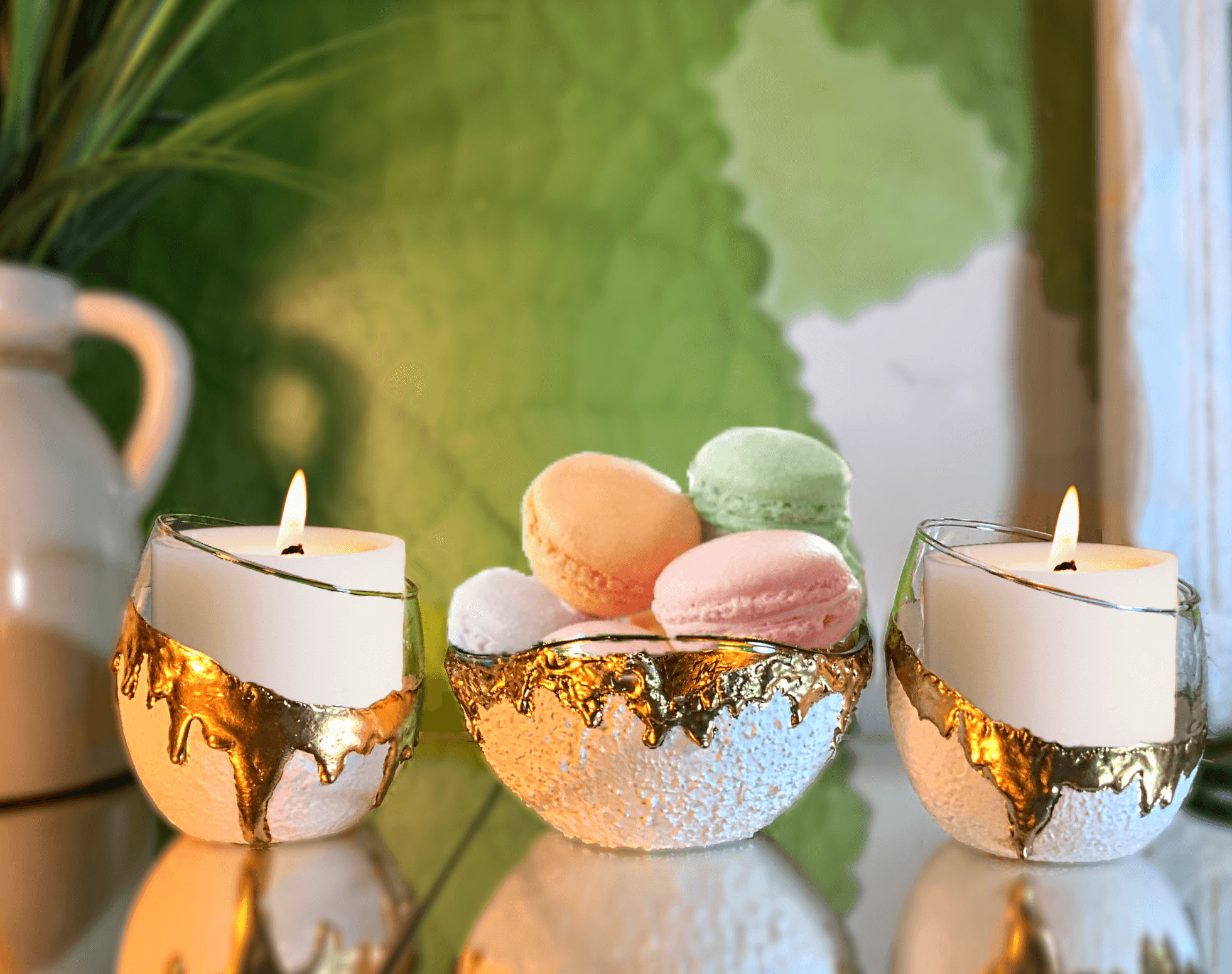 Candy Dishes Set White & Gold Collection in 2020