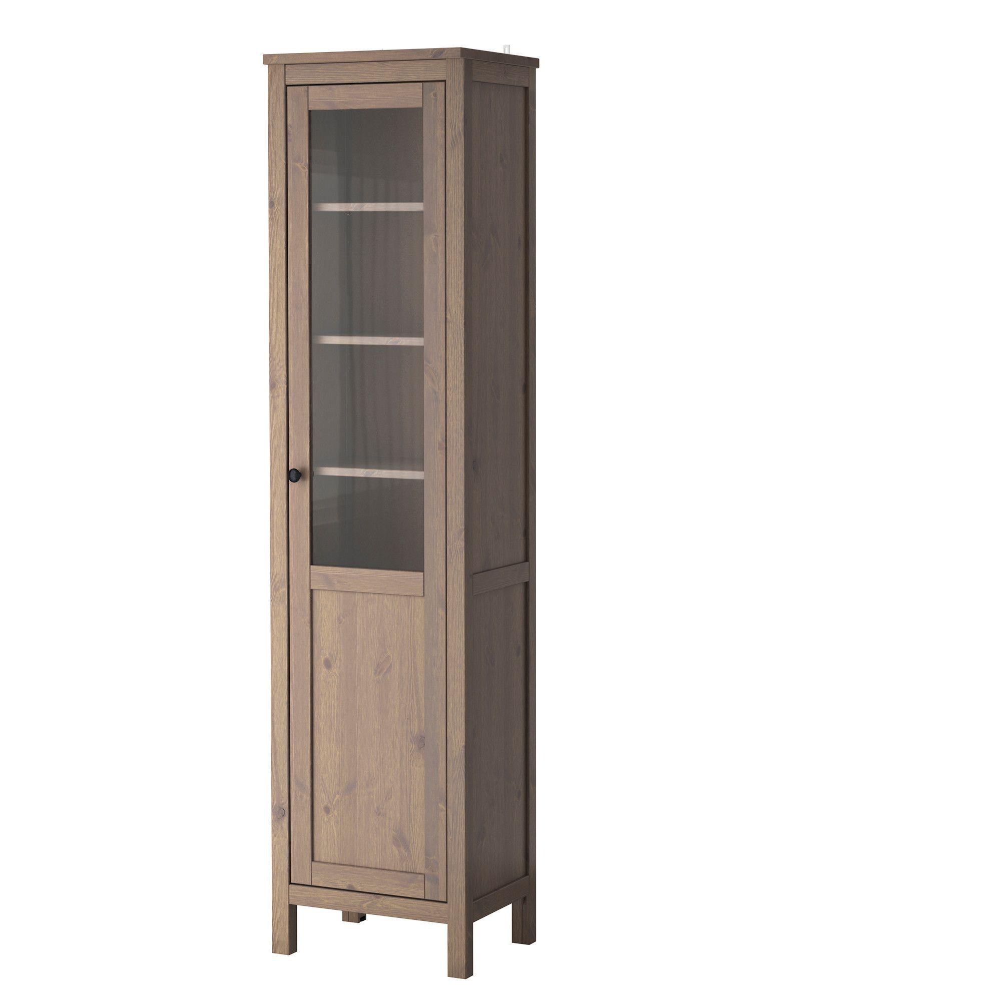 hemnes armoire avec porte semi vitr e gris brun ikea meubles salon pinterest hemnes. Black Bedroom Furniture Sets. Home Design Ideas