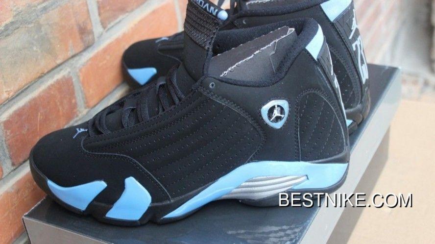 eec621a85082 AJ14 Black Blue Black Jade The Men Shoes Air Jordan 14 311832-041 Top Deals