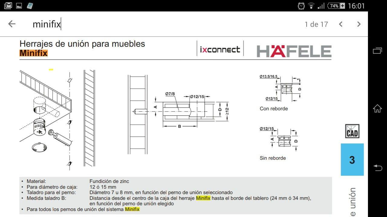 Medidas De Minifix Instalacion