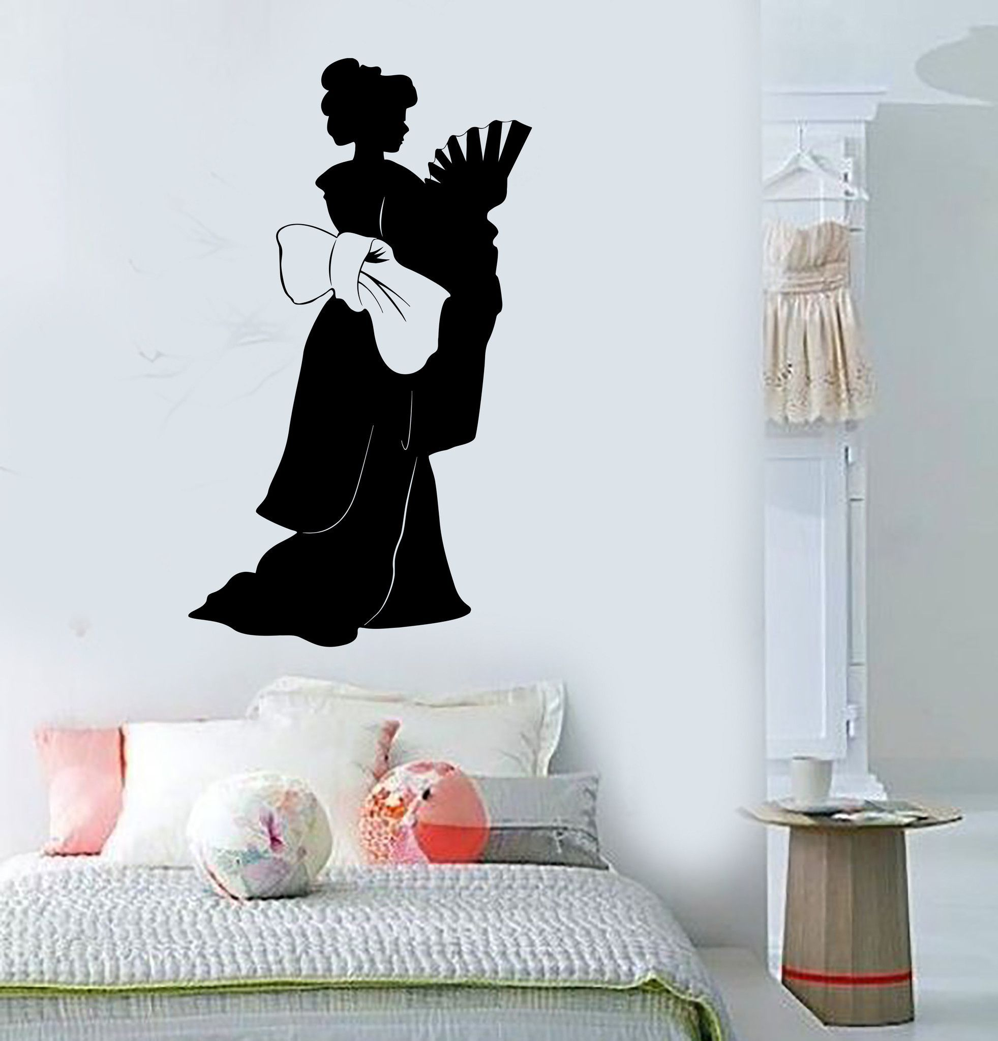 Vinyl Wall Decal Geisha Asian Woman Silhouette Oriental Stickers - Vinyl wall decals asian