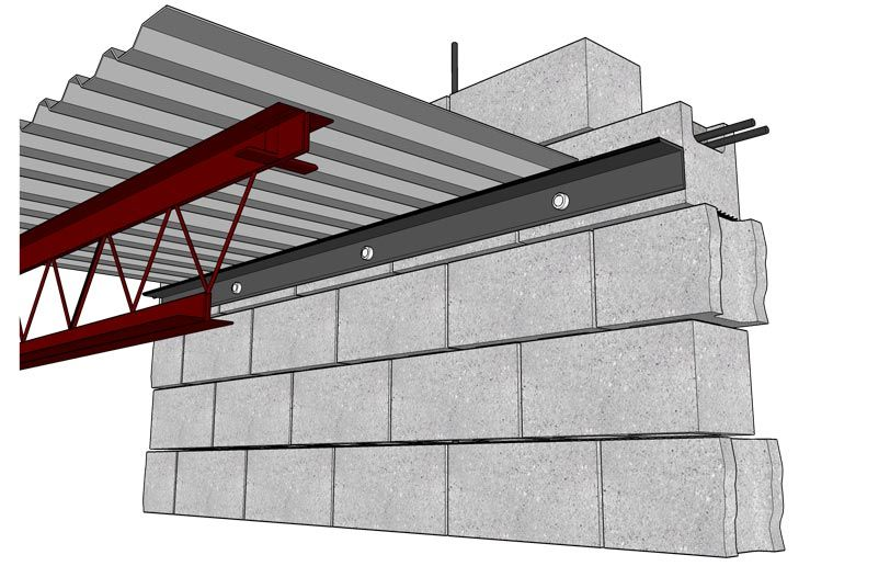 Masonry Structural D 2 Metal Decking Connection Pole Barn Homes Architecture Details Concrete Deck