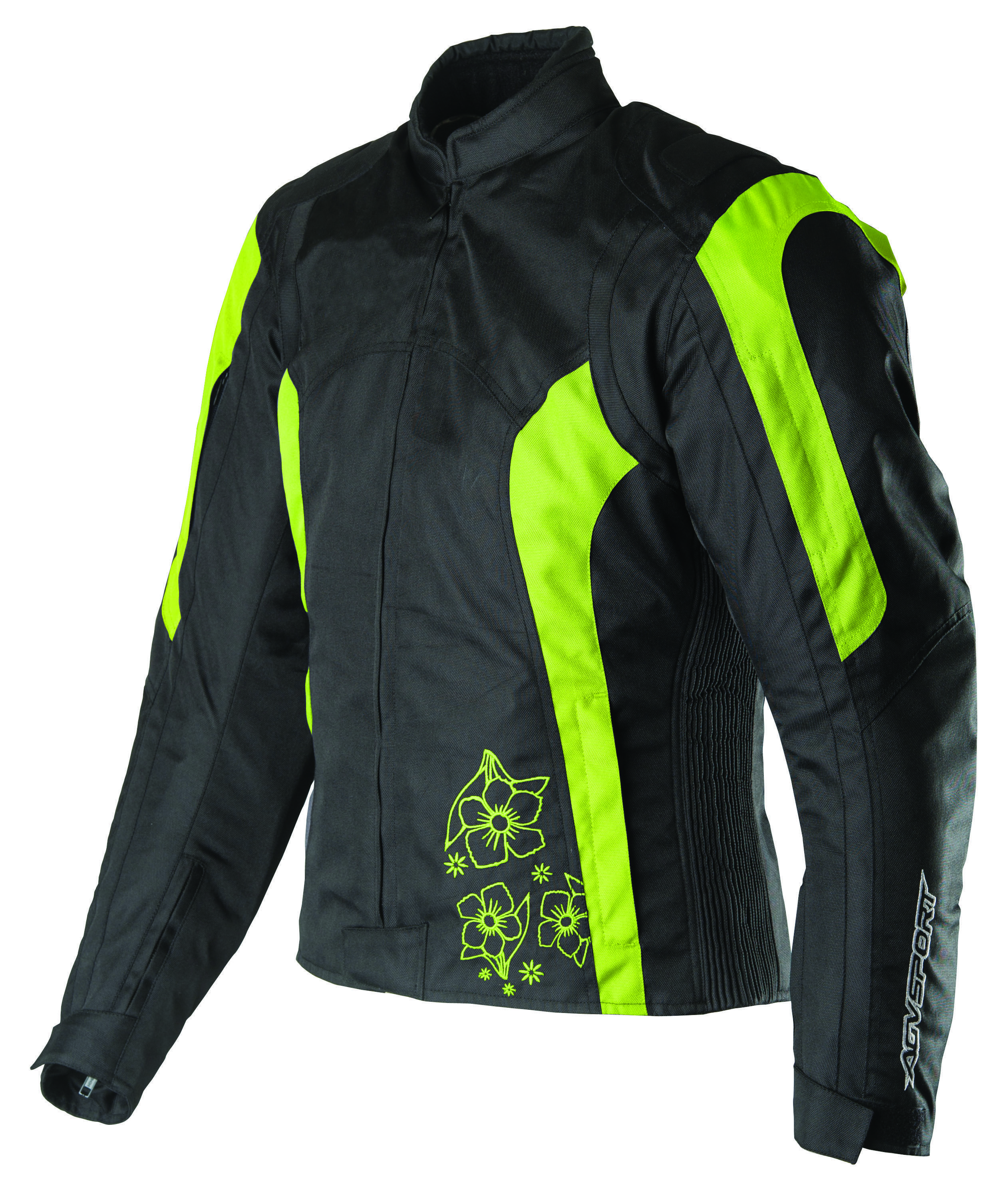 AGVSPORT Sky (Black,Flo Yellow) Ladies Textile Jacket