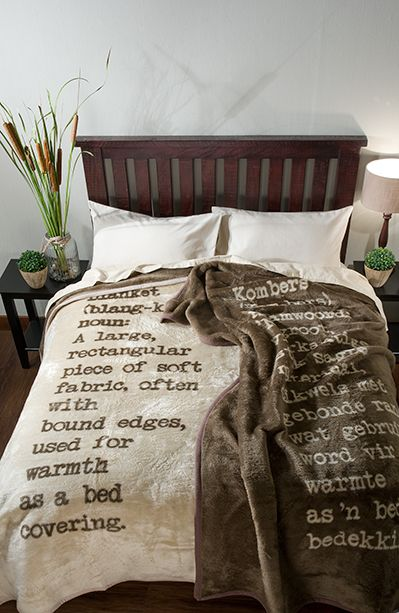 Snuggle Up With These Gorgeous Blankets In English And Afrikaans Coming Soon To Www Volpes Co Za Blanket Home Decor Bed
