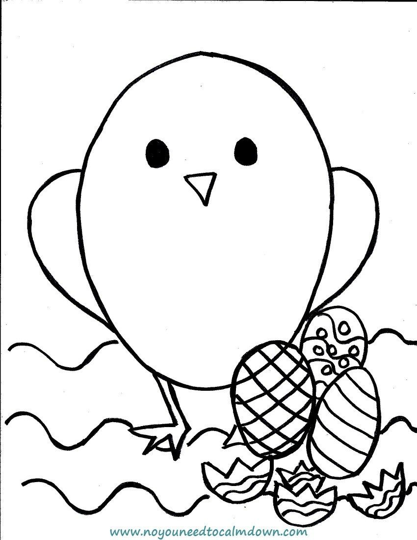 Easter chick coloring page for kids free printable kids coloring