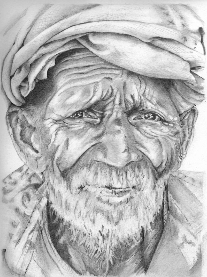 Googled for images of old men with a beard and found this gentleman he has character i did this drawing in pencil art pencil photo realistic