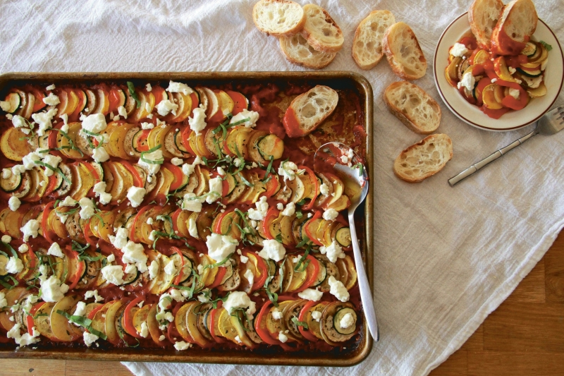 Sheet Pan Suppers - Vegetarian Ratatouille With Goat Cheese #sheetpansuppers Sheet Pan Suppers - Vegetarian Ratatouille With Goat Cheese #sheetpansuppers