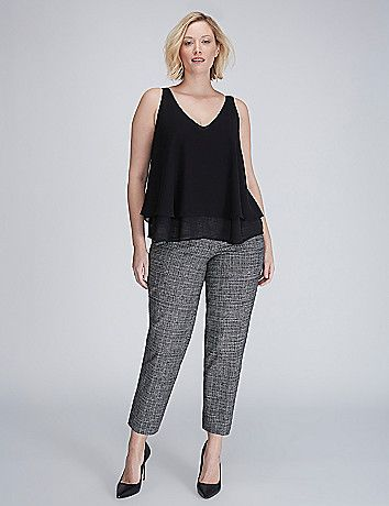 b65f8e00f87 Large Size Clothing · Plus Size Fashions · The Modernist Lena Crosshatch  Ankle Pant Ankle Pants