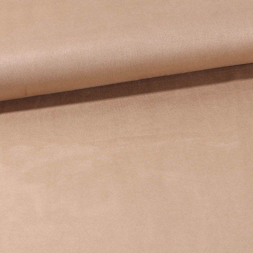 Tissu Suédine Elasthanne aspect Daim uni Beige Sable - Par 10 cm