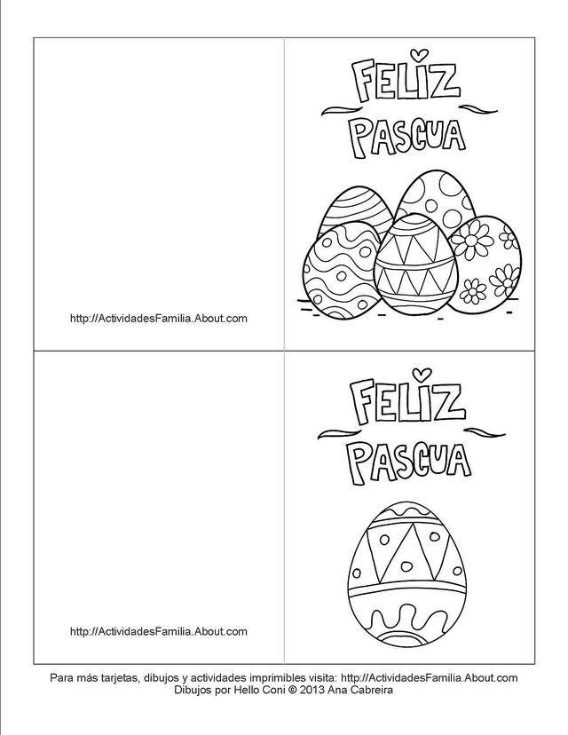 Tarjetas De Pascua De Resurrección Para Colorear Ray Tarjeta De